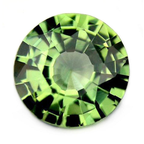 0.47ct Certified Natural Green Sapphire