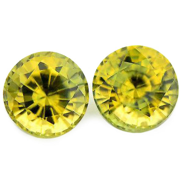 1.32ct Certified Natural Yellow Sapphire Matching Pair