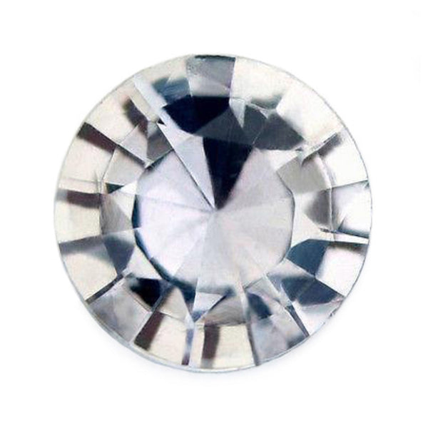 0.53ct Certified Natural White Sapphire