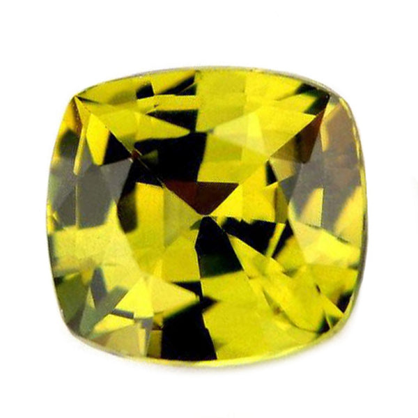 0.73ct Certified Natural Lime Yellow Sapphire