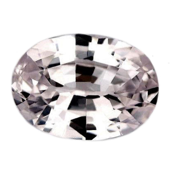 0.96ct Certified Natural White Sapphire