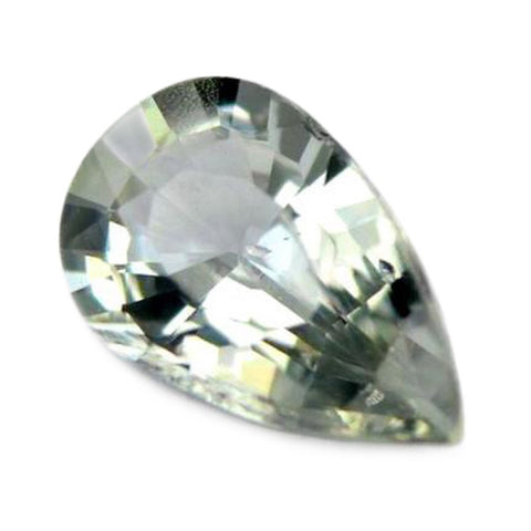 0.36ct Certified Natural White Sapphire