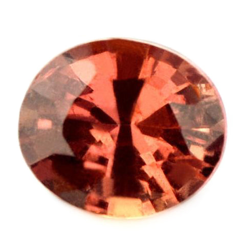 0.87ct Certified Natural Orange Sapphire