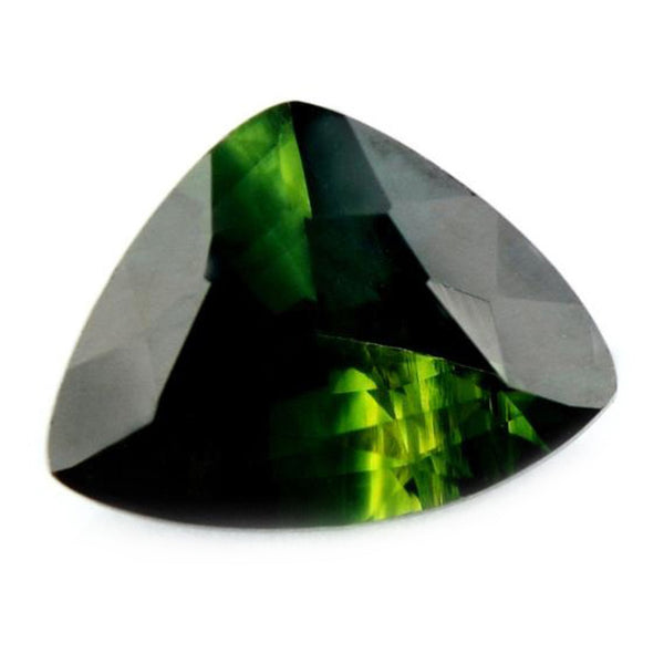 1.23 ct Certified Natural Green Sapphire