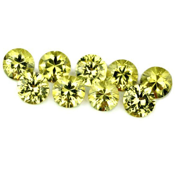 4 mm Certified Natural Yellow Sapphire Set
