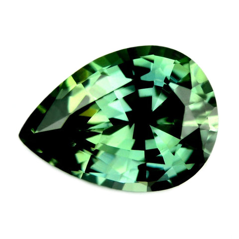 0.69ct Certified Natural Green Sapphire