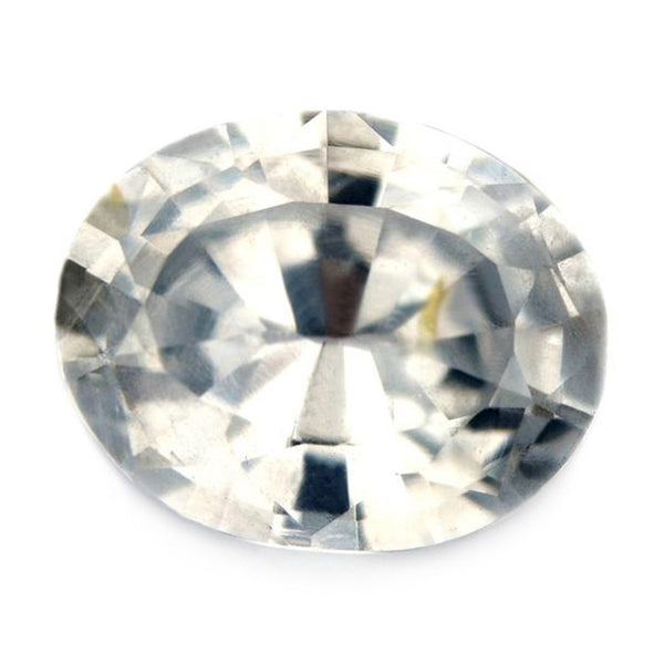 0.97ct Certified Natural White Sapphire