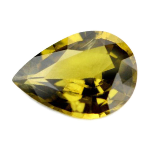 0.87ct Certified Natural Brown Sapphire