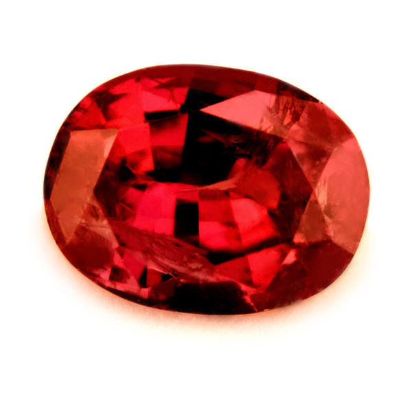 Certified Natural 0.59ct Untreated Ruby, Oval Cut - sapphirebazaar - 1