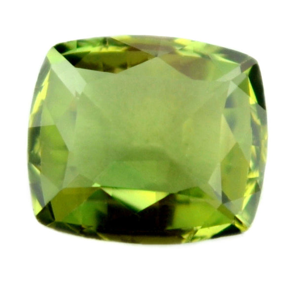 Certified Natural 0.86ct Green Sapphire, Cushion Shape - sapphirebazaar - 1