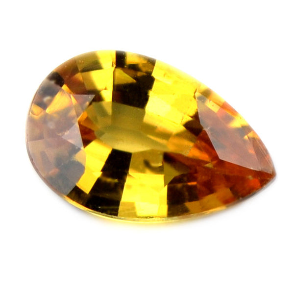 Certified Natural 0.66ct Golden Yellow Unheated Sapphire, VS Clarity - sapphirebazaar - 1