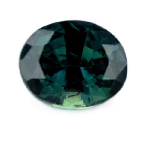 0.94 ct Certified Natural Green Sapphire