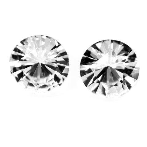 0.32 ct Certified Natural White Sapphire Pair