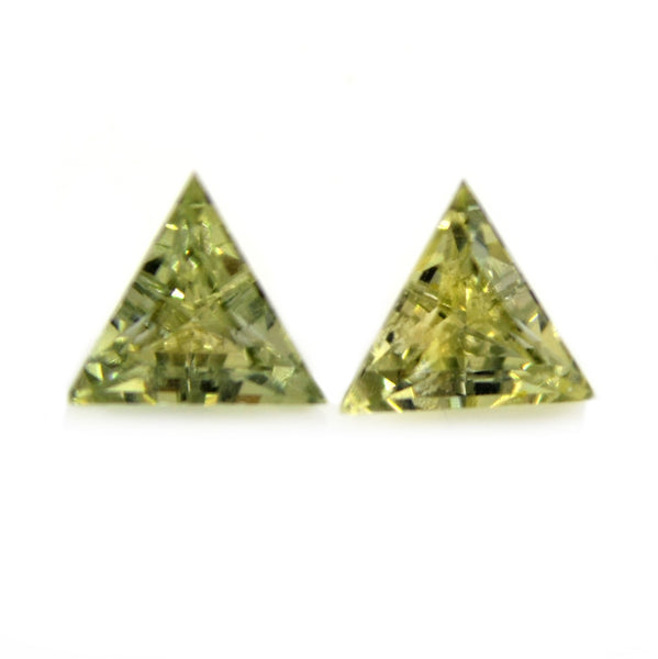 0.52ct Certified Natural Green Sapphire Pair
