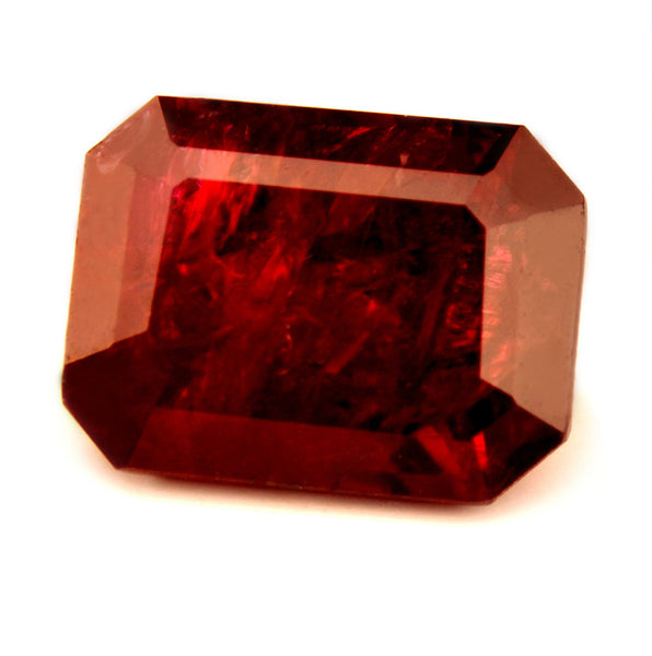 Certified Natural 1.02ct Untreated Ruby, Emerald Cut - sapphirebazaar - 1