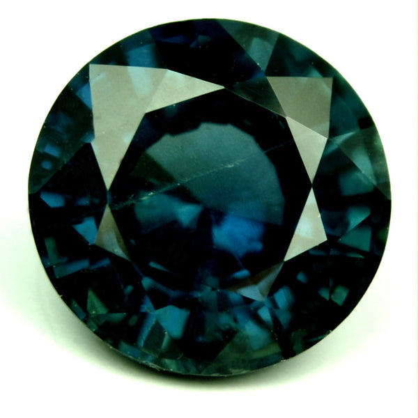 Certified Natural Unheated 1.22ct Blue Sapphire Round Cut - sapphirebazaar - 1