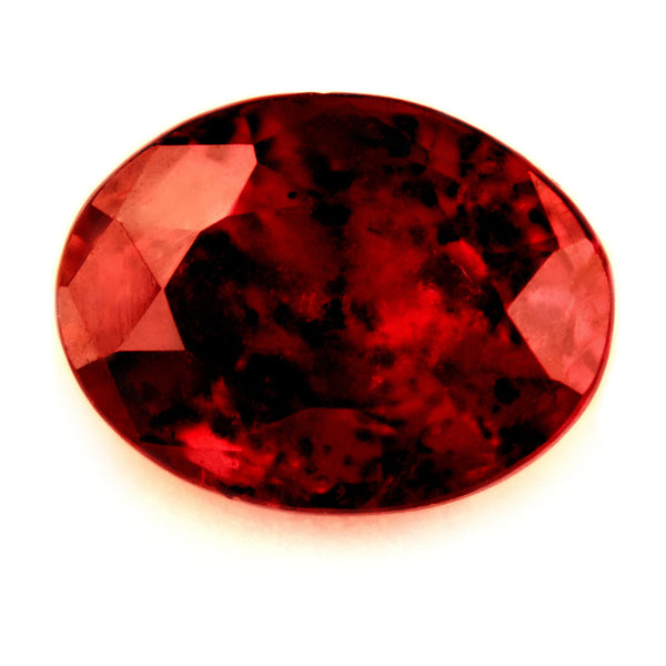 Certified Natural Untreated 0.93ct Ruby, Oval Cut - sapphirebazaar - 1
