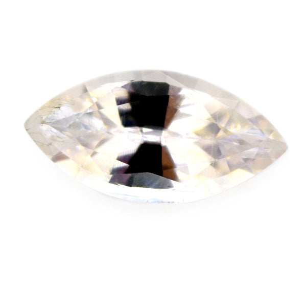 0.99 ct Certified Natural White Sapphire