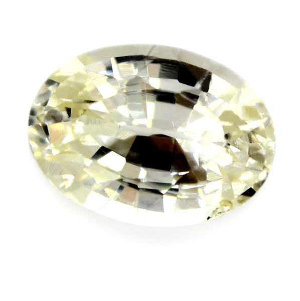 1.24 ct Certified Natural White Sapphire