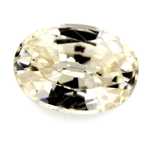 1.20 ct Certified Natural White Sapphire