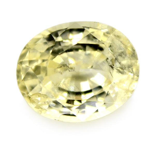 1.13ct Certified Natural Yellow Sapphire