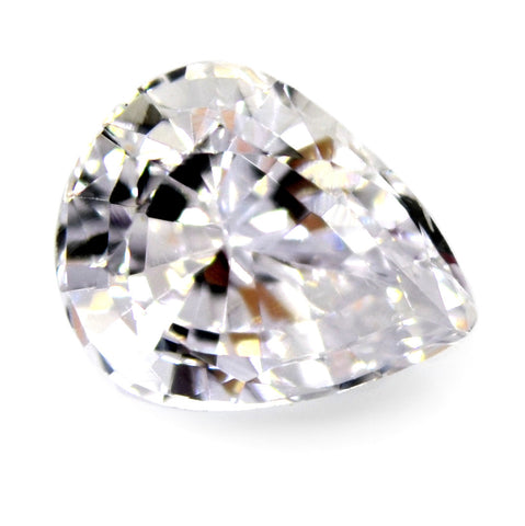 1.07 ct Certified Natural White Sapphire
