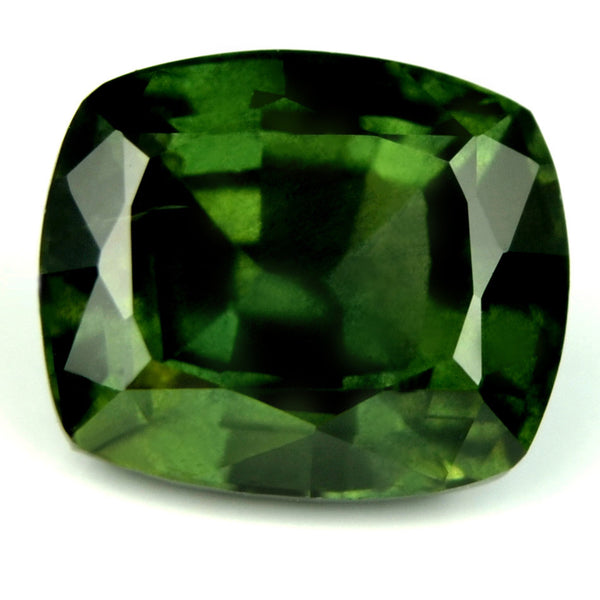 Certified Natural 1.45ct Green Cushion Sapphire - sapphirebazaar - 1