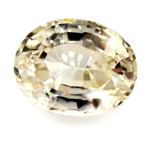 1.25 ct Certified Natural White Sapphire
