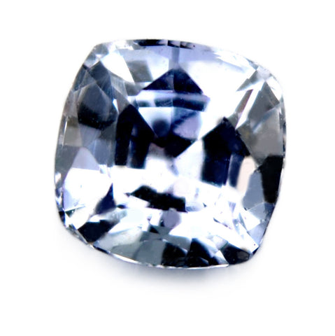 0.75 ct Certified Natural White Sapphire