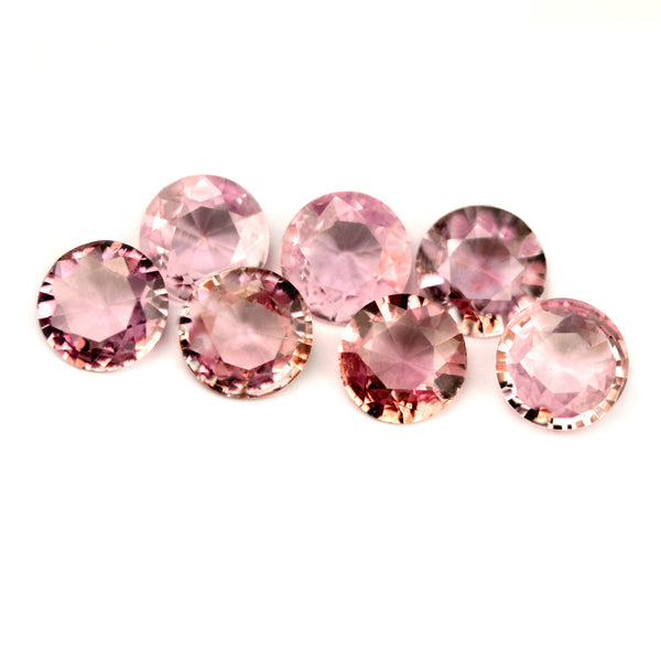 Certified Natural Unheated 4.5mm Matching Pink Sapphires - sapphirebazaar - 1
