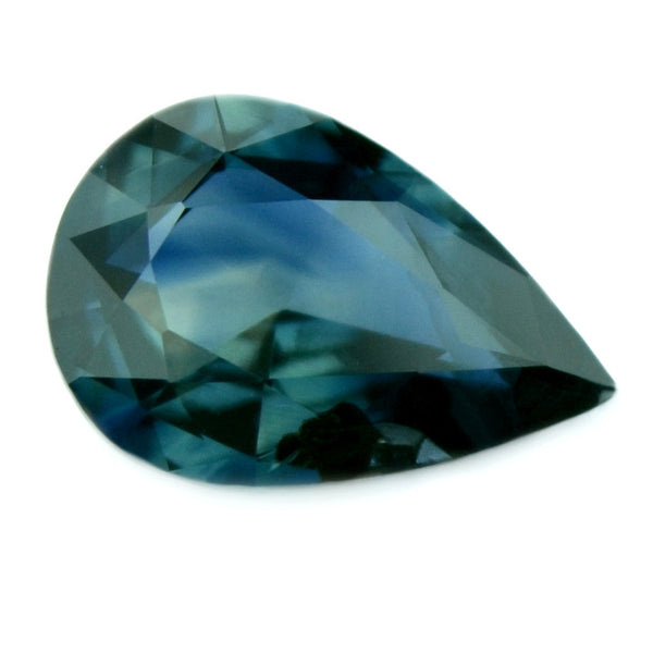 0.57 ct Certified Natural Teal Sapphire