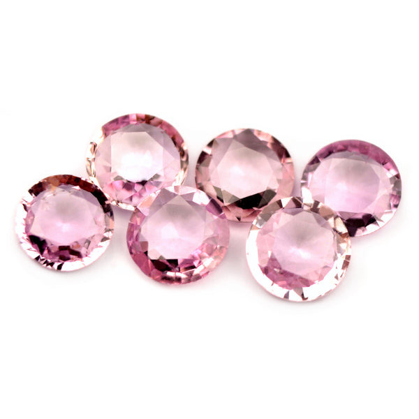 Certified Natural 4.5mm Matching Pink Sapphires - sapphirebazaar - 1