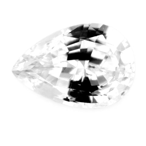 1.01 ct Certified Natural White Sapphire