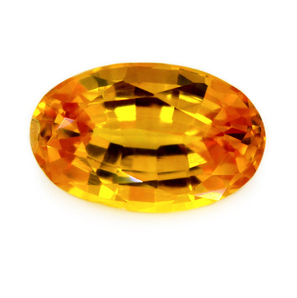 0.85 ct Certified Natural Yellow Sapphire