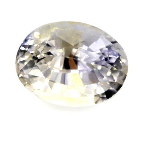 1.26 ct Certified Natural White Sapphire