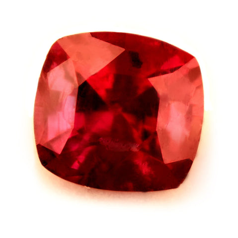 Certified Natural 0.48ct Untreated Ruby, Cushion Cut - sapphirebazaar - 1