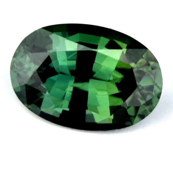 Certified Natural 0.98ct Green Sapphire Internally Flawless - sapphirebazaar - 1