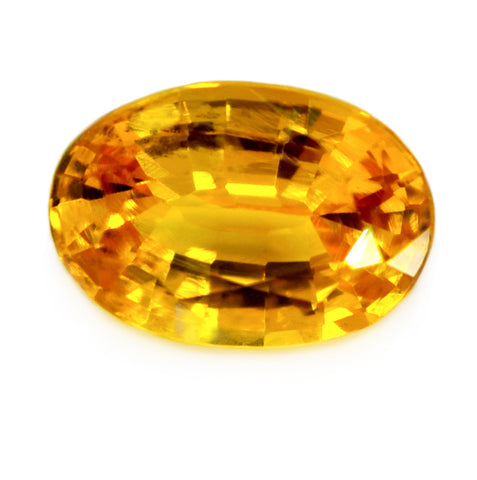 0.77 ct Certified Natural Yellow Sapphire