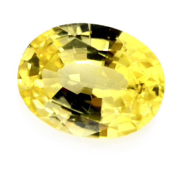 0.65 ct Certified Natural Yellow Sapphire