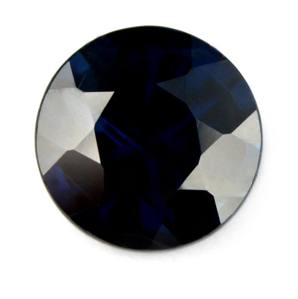 Certified Natural 1.08ct Royal Blue Sapphire, 5.9mm - sapphirebazaar - 1