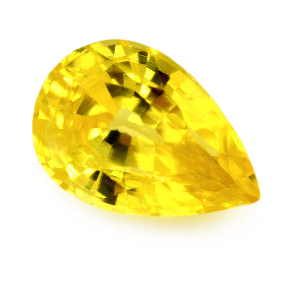 0.78 ct Certified Natural Yellow Sapphire
