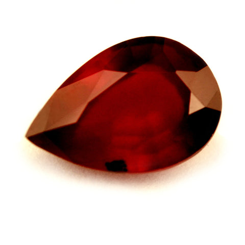 Certified Natural 0.66ct Ruby, Pear Cut - SI Clarity - sapphirebazaar - 1