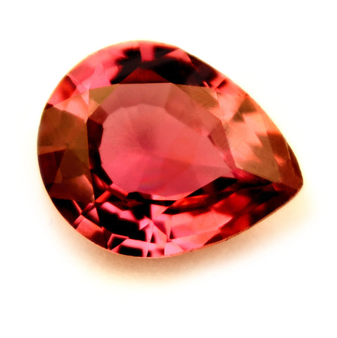 Certified Natural 0.42ct Untreated Ruby, Pear Cut - VVS Clarity - sapphirebazaar - 1
