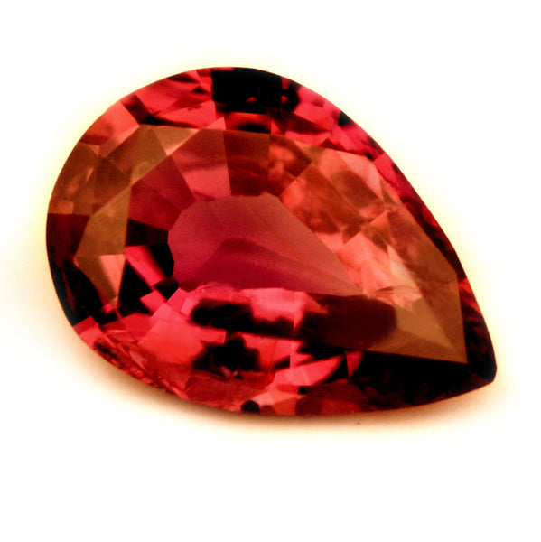 Certified Natural 0.48ct Unheated Ruby, Pear Cut - VVS Clarity - sapphirebazaar - 1