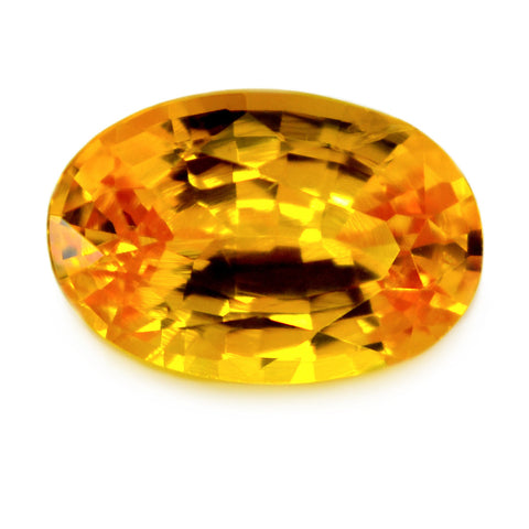 0.91 ct Certified Natural Yellow Sapphire