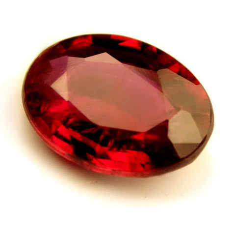 Certified Natural 0.65ct Untreated Royal Red Ruby, Oval Cut - VS Clarity - sapphirebazaar - 1