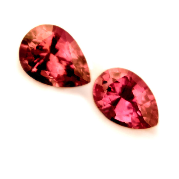0.30 ct Certified Natural Red Ruby Pair - sapphirebazaar - 1