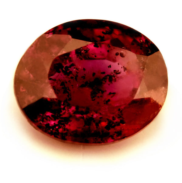 Certified Natural 0.95ct Unheated + Untreated Ruby, Oval Cut - sapphirebazaar - 1