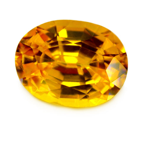 0.96 ct Certified Natural Yellow Sapphire