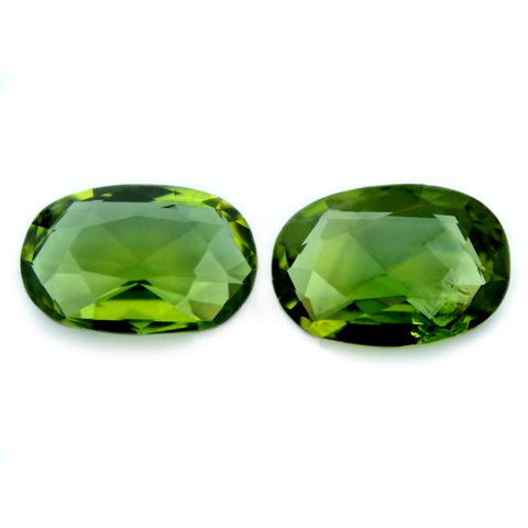 1.01 ct Certified Natural Green Sapphire Pair
